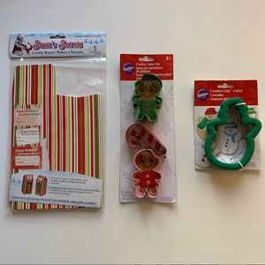 Wilton Christmas Cookie Cutters & Boxes New